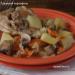 Тушеный картофель с курицей и шампиньонами