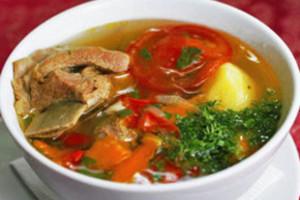 Традиционное восточное первое блюдо. Шурпа