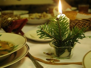 Традиционный русский праздничный стол на Рождество