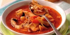 Венгерская кухня. Рецепт рыбного супа.